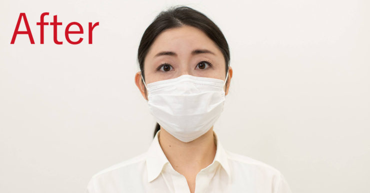 マスクメイクAfter